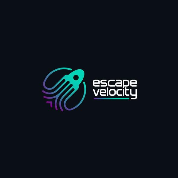 Squid logo with the title 'Escape Velocity'