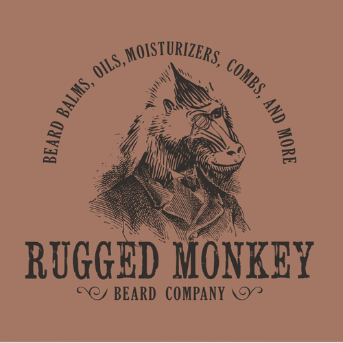 Comb design with the title 'Rugged Monkey logo suggestion'