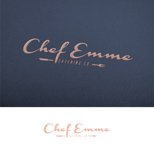Catering logo with the title 'CHEF EMME LOGO - Boutique Catering Company'