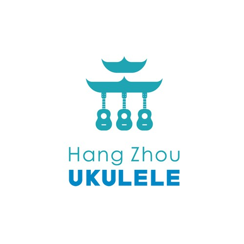 Ukulele logo with the title 'Hang Zhou Ukulele'