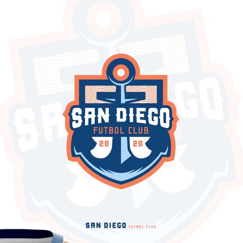 Soccer ball design with the title 'San Diego Futbol Club'