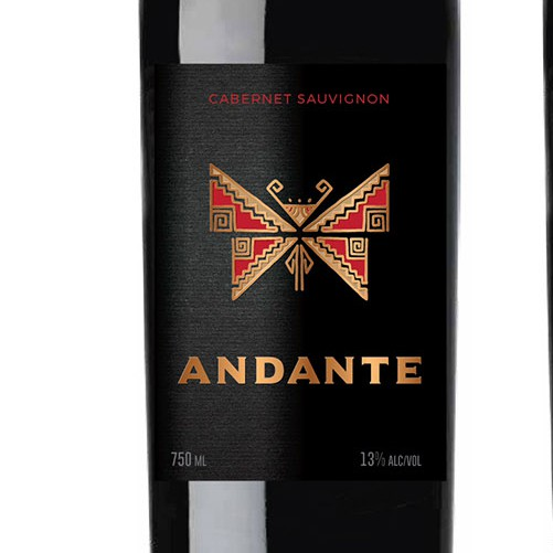 Outstanding design with the title 'Chilean Wine Label Design'