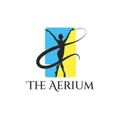 Gymnastics logo with the title 'The aerium'