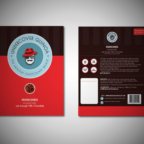 Flat packaging with the title 'Packaging Design Concept for Luxury Chocolate  Product'
