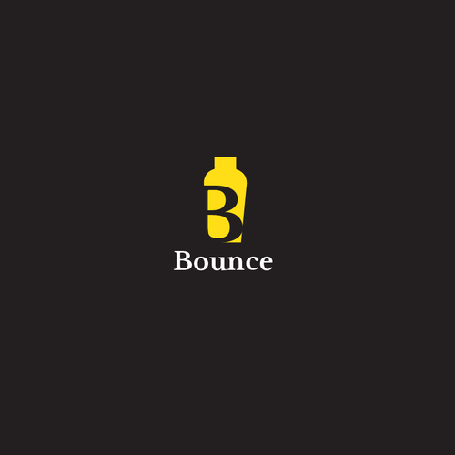 Bartender design with the title 'Simple letter logo'