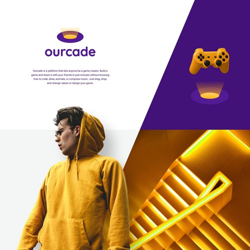 Shine logo with the title 'Creative & Unique Logo for Ourcade!'