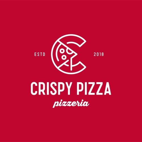 Pizza design with the title 'Crispy Pizza'