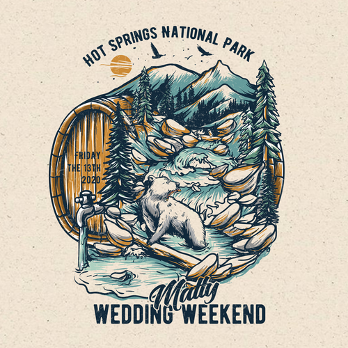Forest t-shirt with the title 'Brewery Outdoor Wedding'