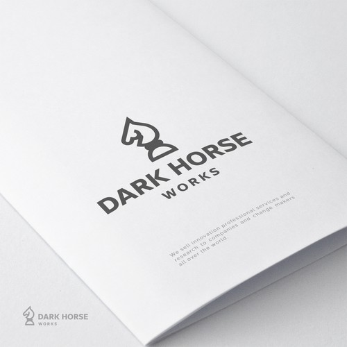 Horse head logo with the title 'Dark horse'