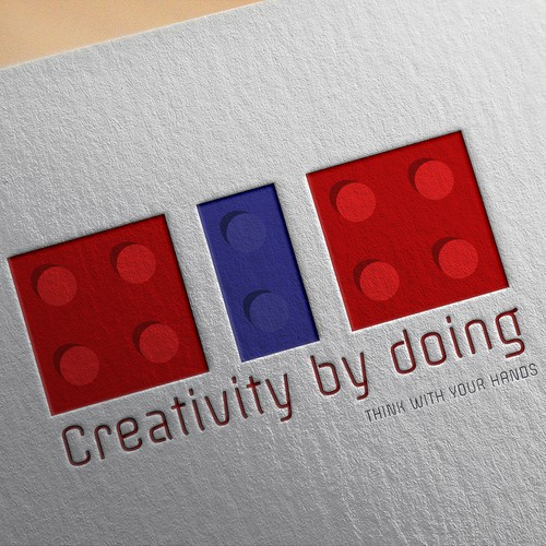 Lego design with the title 'Creativity by Doing'