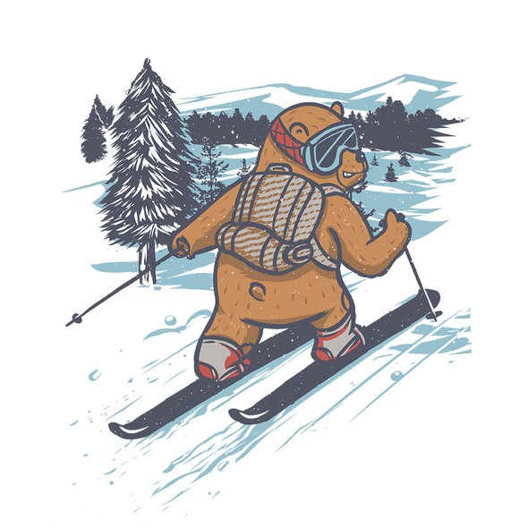 Snowboard t-shirt with the title 'The Journey is The Reward'