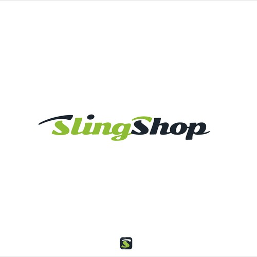 "Supply logo with the title 'Logo proposal for ""SlingShop""'"