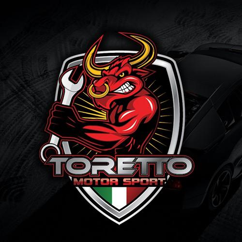 Motorsport logo with the title 'Toretto Motor Sport Accessori Per Auto Sportive'
