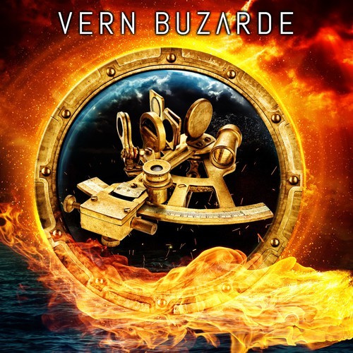 Fire book cover with the title 'Book cover design - The Navigator by author Vern Buzarde'
