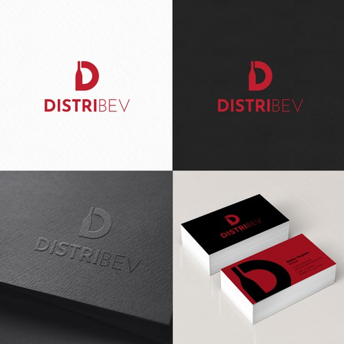 Alcohol design with the title 'DistriBev'