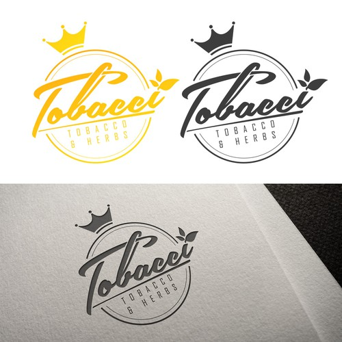 Tobacco logo with the title 'Tobbaco and herbs logo alt 2'