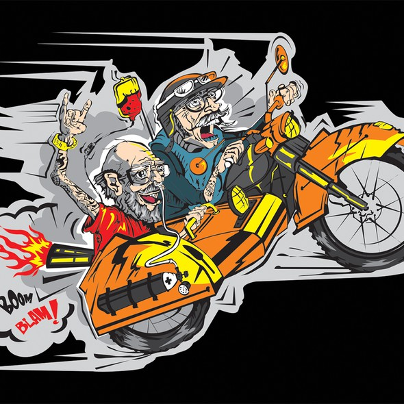 Fantastic design with the title '+++Humor Funny Shirt Design for Motorcycle Biker+++Winner guaranteed+++'