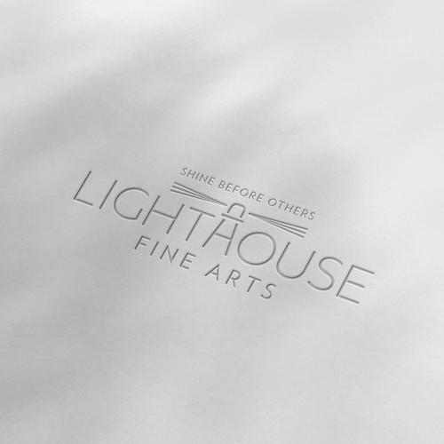 Fine art design with the title 'Logo and Social Media Package for Lighthouse Fine Arts'