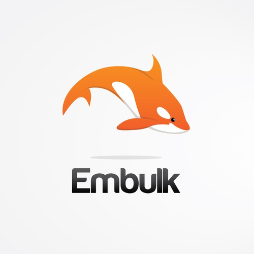 "Orca design with the title 'logo for new open-source software ""Embulk""'"