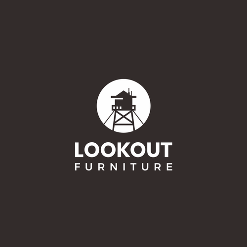 Skyscraper logo with the title 'Silhouette logo for custom furniture company: Lookout Furniture'