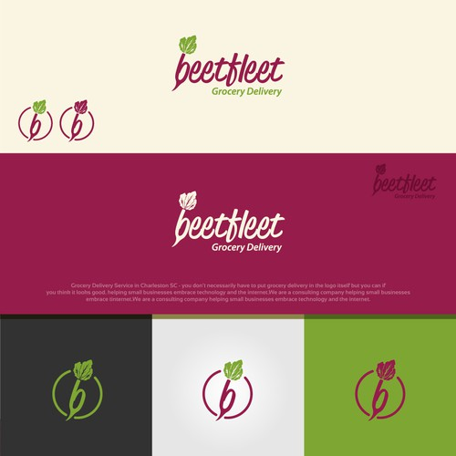 Grocery logo with the title 'beetfleet'