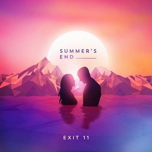 Album artwork with the title 'Album Illustration for Summer's End'
