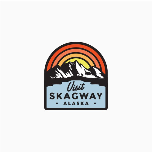 Destination design with the title 'Skagway Alaska Tourisim department logo'