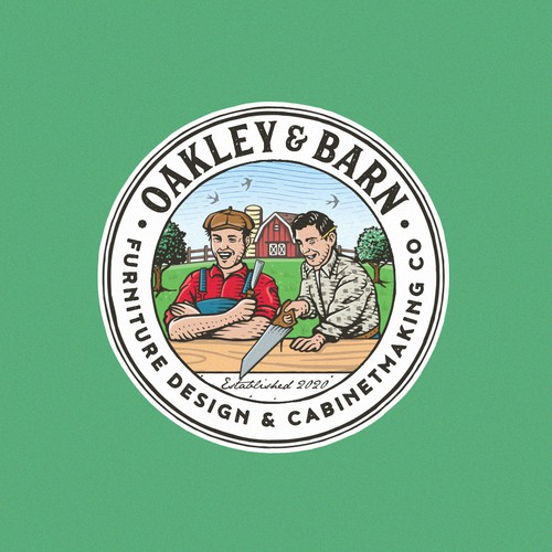 Grass logo with the title 'Oakley & Barn'