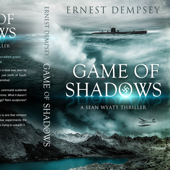 """Submarine design with the title '""""Game of Shadows"""" by Ernest Dempsey'"""