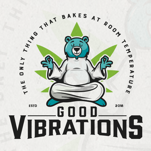 Modern vintage logo with the title 'Good Vibrations'