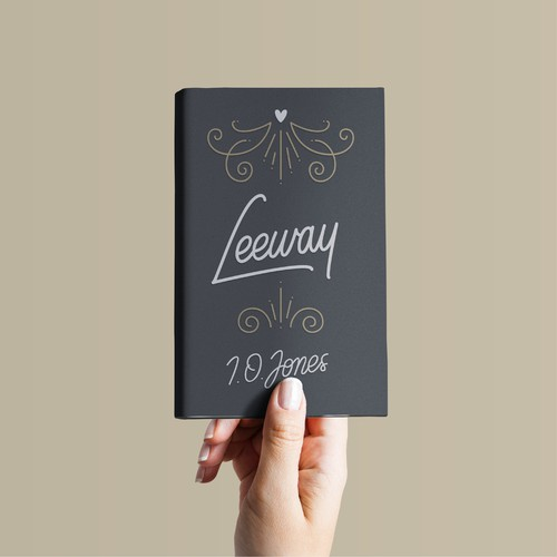 Hand-drawn book cover with the title 'Leeway Book Cover'