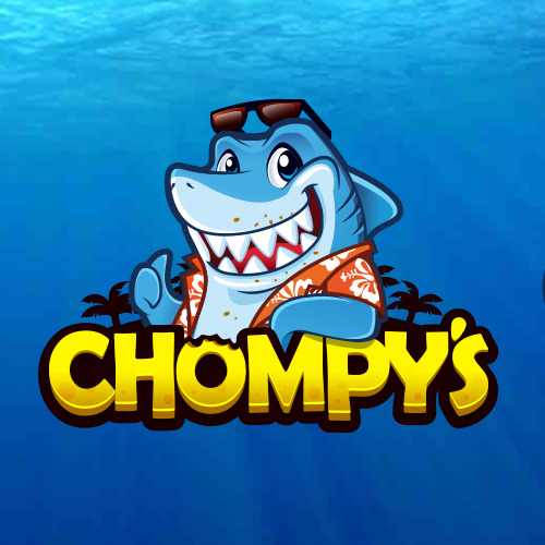 Coconut Tree logo with the title 'Chompy's Shark Logo Contest!'