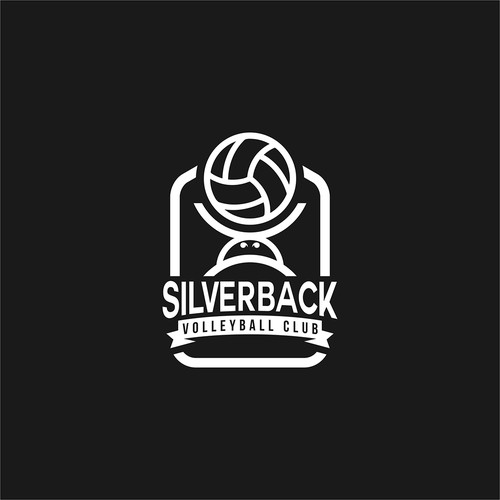Volleyball design with the title 'Silverback women volleyball club logo '