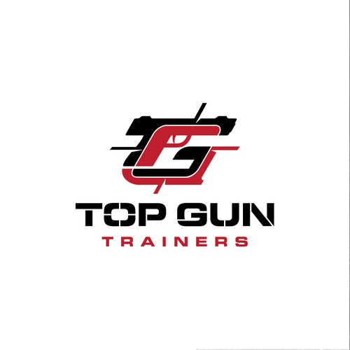 Bullseye logo with the title 'Logo for gun trainers'