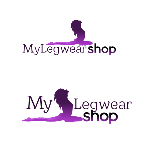 Purple and white logo with the title 'Feminine fashion-related Logo '