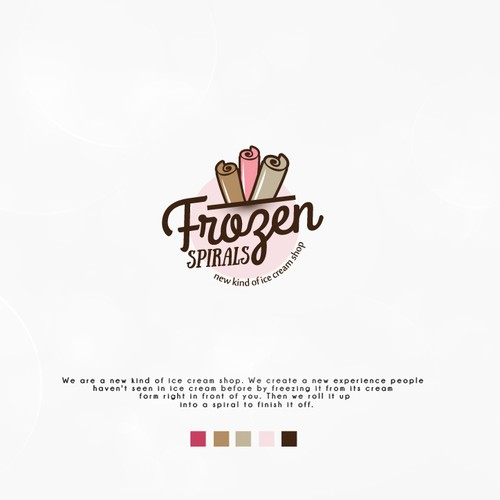 Spiral logo with the title 'Playful logo for ice cream shop'