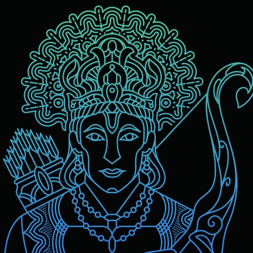 Simple illustration with the title 'Rama'