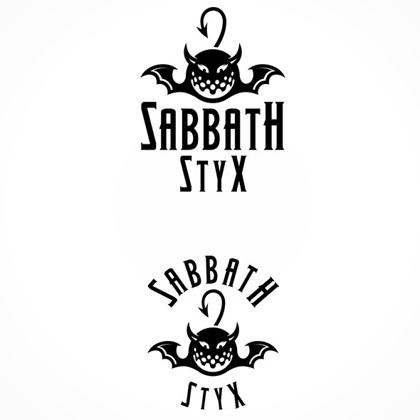 Golf ball design with the title 'Golf Club Sabbath Styx Logo'