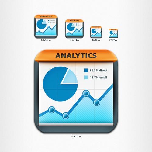 Pie chart design with the title 'Statistics App - iPad App Icon'
