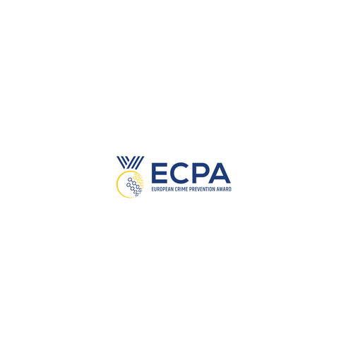 Achievement logo with the title 'Logo design for EUCPA organised Crime Prevention Award'