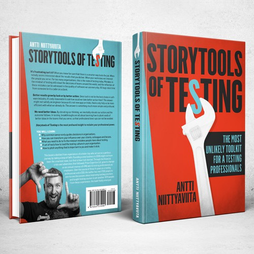 Business book cover with the title 'Book cover for Storytools of Testing'