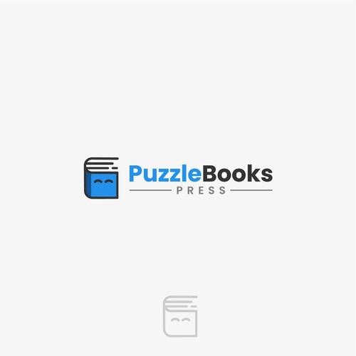 Press logo with the title 'PuzzleBooks Logo Design'