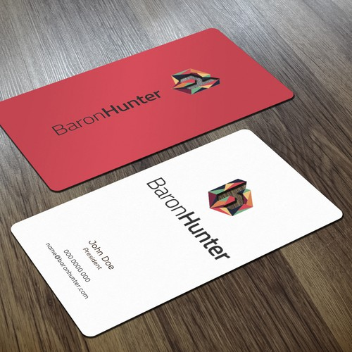 Vertical design with the title 'Die Cut Business Card'