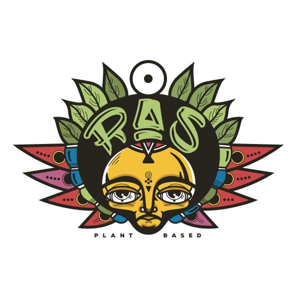 Rasta design with the title 'Plant based Ethiopian restaurant logo'