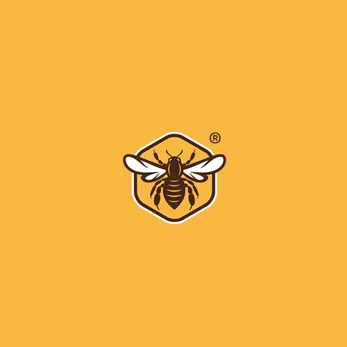 Honeybee design with the title 'Logo Bee'