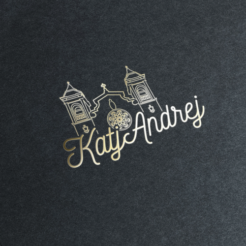 Romantic logo with the title 'Wedding logo'
