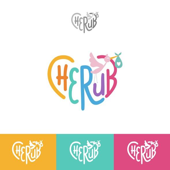 Baby design with the title 'Logo Cherub'
