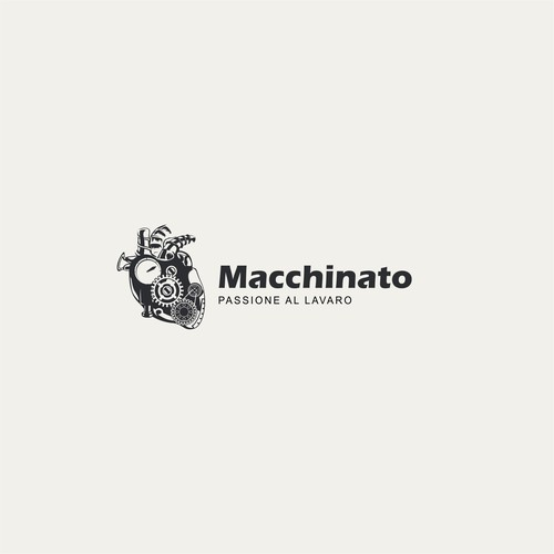 Mechanical logo with the title 'Macchinato'