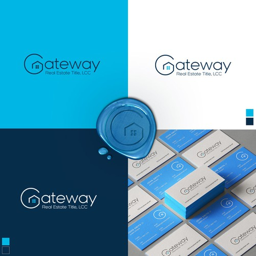 Real estate logo with the title 'Gateway '
