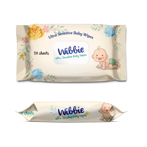 Baby packaging with the title 'Baby Wipes'